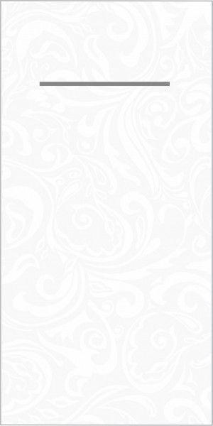 Airlaid Besteckservietten Lias in Weiß, 40 x 40 cm, 100 Stück - Mank