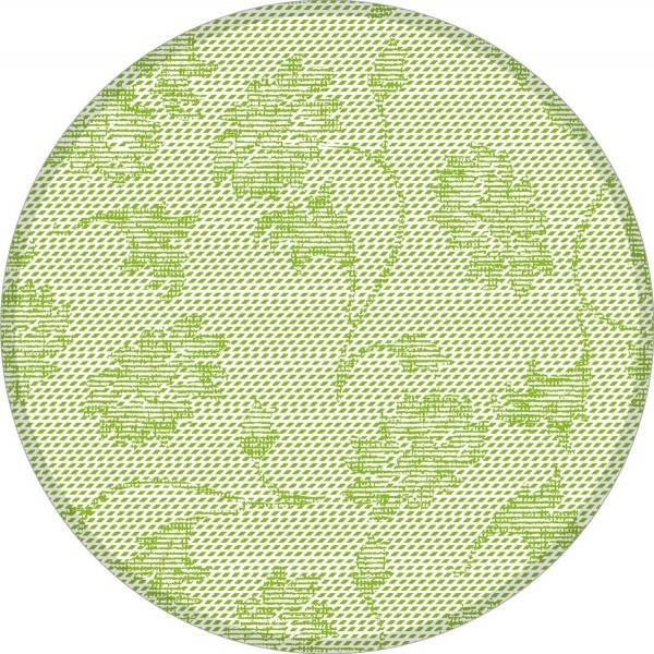 Deckchen Lisboa in Schilfgrün, Tissue 9-lagig, 90 mm, 250 Stück - Mank