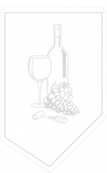 Weinmanschette mit Blindprägung aus Tissue, 100x65mm, 150 Stück - Mank