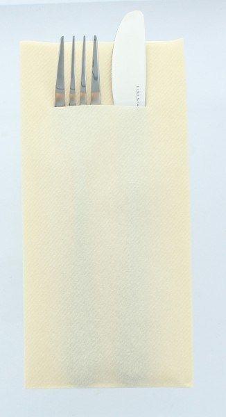 Airlaid Besteckservietten Creme, 40 x 40 cm, 75 Stück - Mank