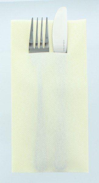 Airlaid Besteckservietten Champagner, 40 x 40 cm, 75 Stück - Mank