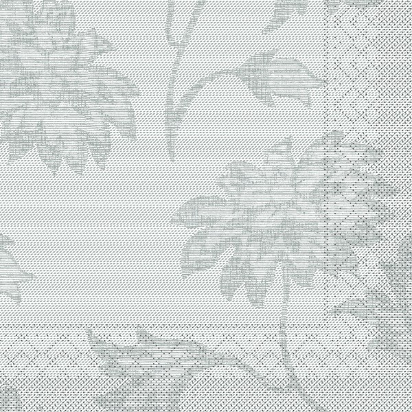 Tissue Serviette Lisboa in Grau, 33 x 33 cm, 100 Stück - Mank