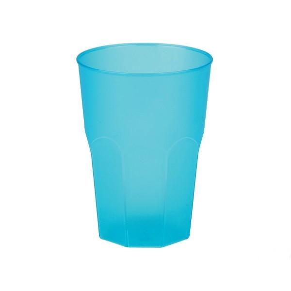 Mehrweg-Cocktailglas Türkis-gefrostet 420ml aus Plastik, 6 Stück - Mank