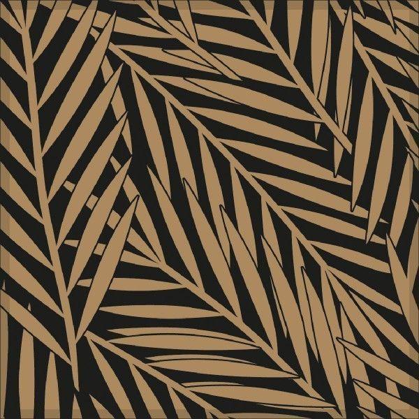 Deckchen Botanic in Gold, Tissue 9-lagig, 90 x 90mm, 250 Stück - Mank