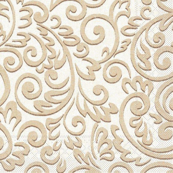 Tissue Serviette Bosse in Braun, 33 x 33 cm, 100 Stück - Mank