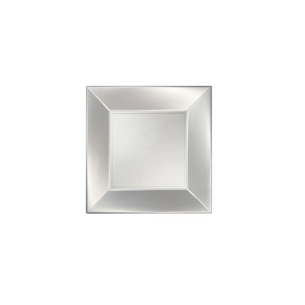 Einweg Dessertteller Perlmutt-Weiss 18 x 18cm aus Plastik (PP), 8 Stück - Mank
