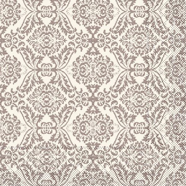 Tissue Serviette Kiyan in Braun, 40 x 40 cm, 100 Stück - Mank