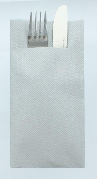 Airlaid Besteckservietten Silber, 40 x 40 cm, 75 Stück - Mank