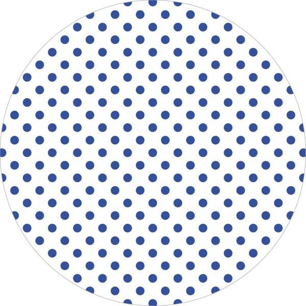 Deckchen Antonia-Punkte in Blau, Tissue mit Folienbeschichtung, Ø 90 mm, 250 Stück - Mank