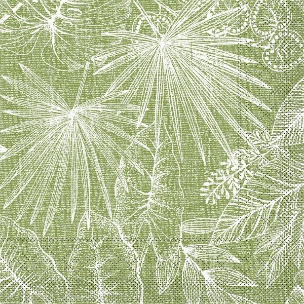 Tissue Serviette Kona in Oliv, 33 x 33 cm, 100 Stück
