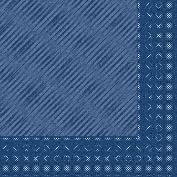 Tissue Deluxe Serviette Blau, 40 x 40 cm, 50 Stück - Mank