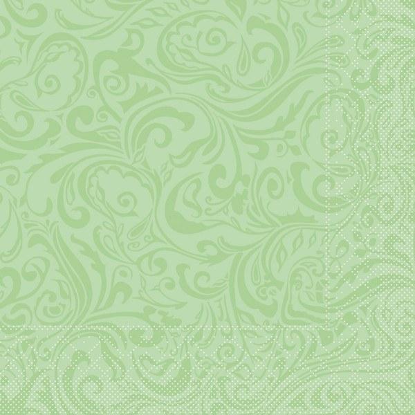 Tissue Serviette Lias in Pistazie, 40 x 40 cm, 100 Stück - Mank