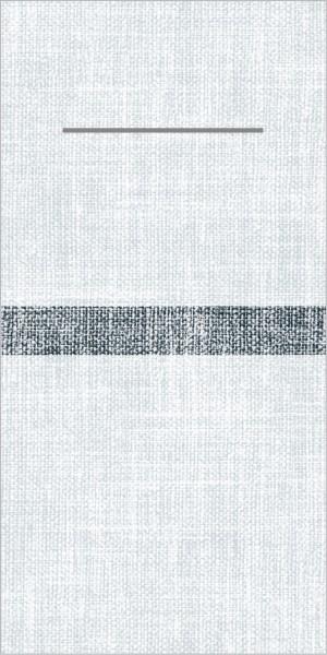 Airlaid Besteckservietten Joe in Hellgrau-Schwarz, 40 x 40 cm, 75 Stück - Mank