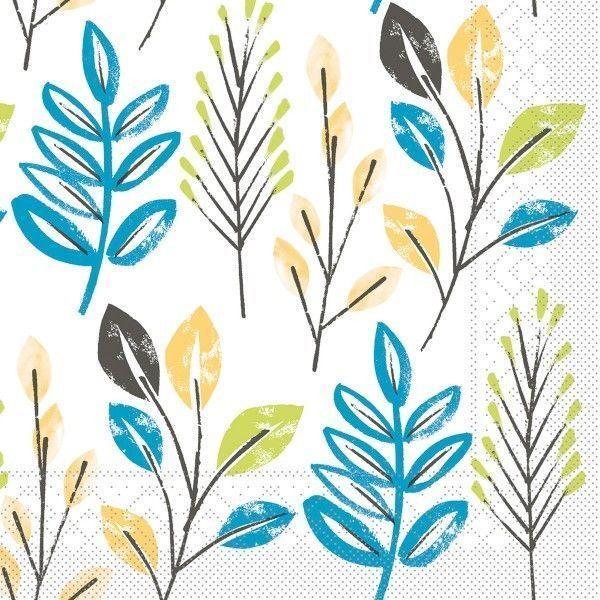 Tissue Serviette Cedrik Blau-Anthrazit, 33 x 33 cm, 100 Stück - Mank