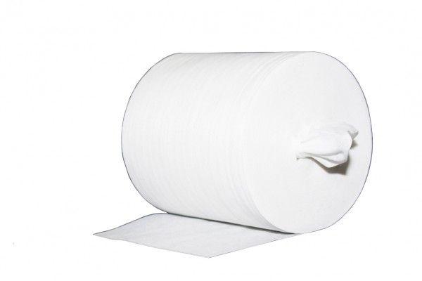 Reinigungstuch M-Wipes aus Spunlace 50 gsm Weiß, 17x25 cm ca. 200 Abrisse, 8 Rollen - Mank