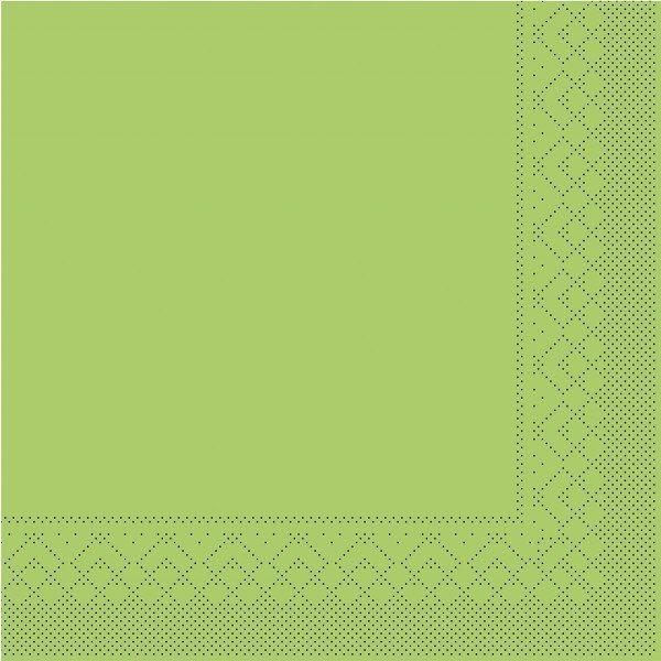 Tissue Serviette Kiwi, 25 x 25 cm, 100 Stück - Mank