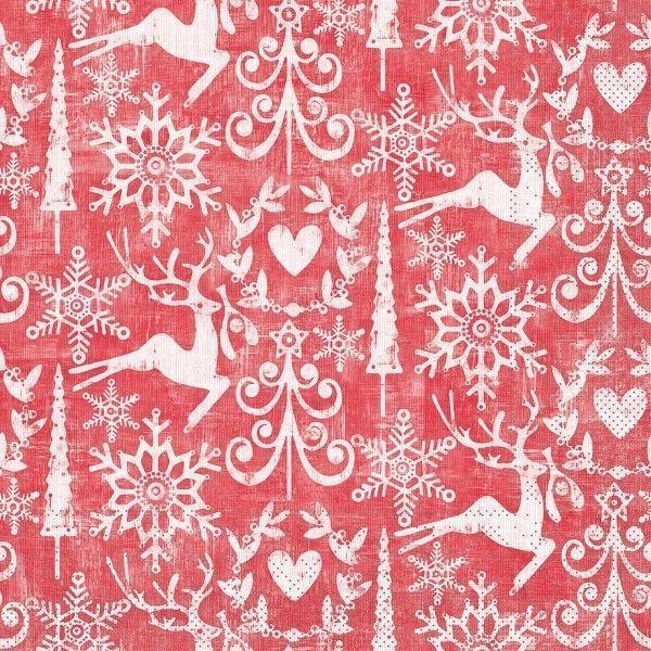Tissue Serviette Bob in Rot, 40 x 40 cm, 100 Stück - Mank