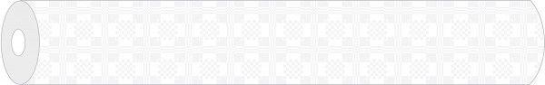 Papier Rollenware Damast in Weiß ,100 cm x 25 m, 1 Stück - Mank