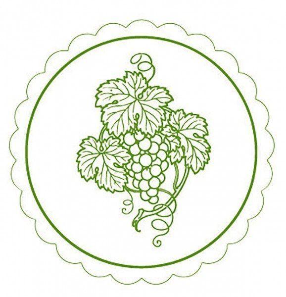 Deckchen Weinrebe in Grün, Tissue mit Folienbeschichtung, 105 mm, 250 Stück - Mank