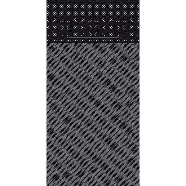Tissue Deluxe Besteckservietten Schwarz, 40 x 40 cm, 75 Stück - Mank