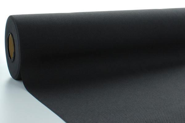 Airlaid Tischdeckenrolle Schwarz, 80 cm x 40 m , 1 Stück - Mank