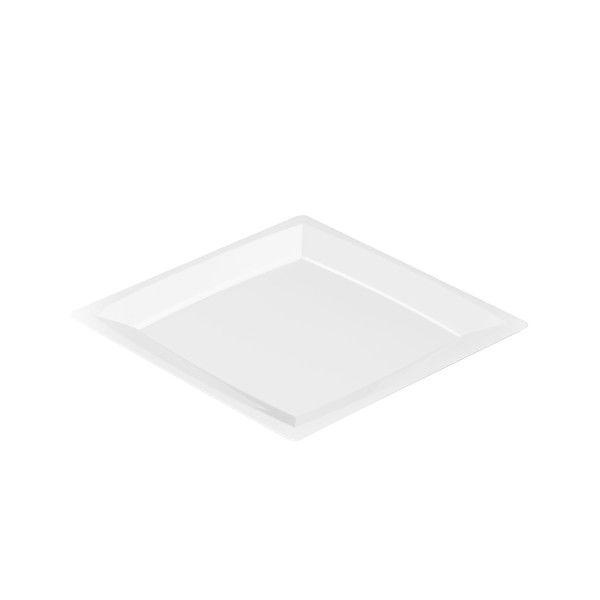 Einweg Teller MILAN Gr. M in Weiss 17,2 x 17,2cm aus Plastik, 24 Stück - Mank