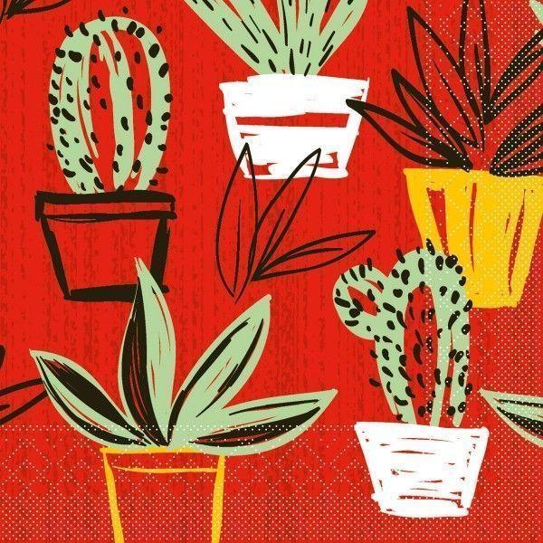 Tissue Serviette Sancho in Mexican-Style, 33 x 33 cm, 100 Stück - Mank