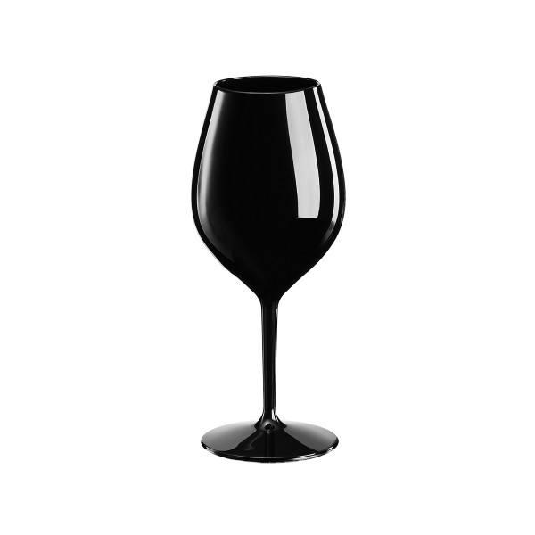 Mehrweg-Weinglas Schwarz 510ml aus TT, 1 Stück - Mank