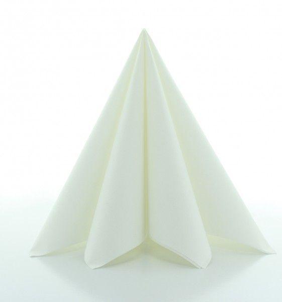 PG-Airlaid Serviette Weiß, 40 x 40 cm, 50 Stück