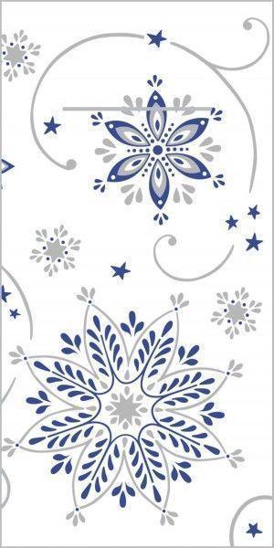Airlaid Besteckservietten Cristal in Blau-Silber, 40 x 40 cm, 75 Stück - Mank