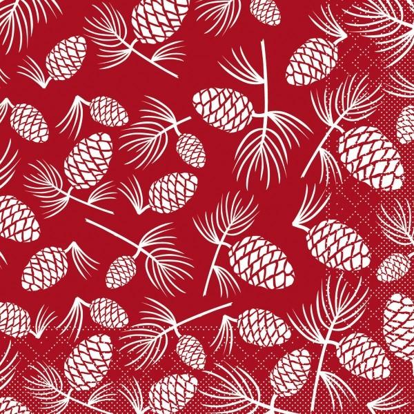 Tissue Serviette Patrick in Bordeaux, 33 x 33 cm, 100 Stück - Mank