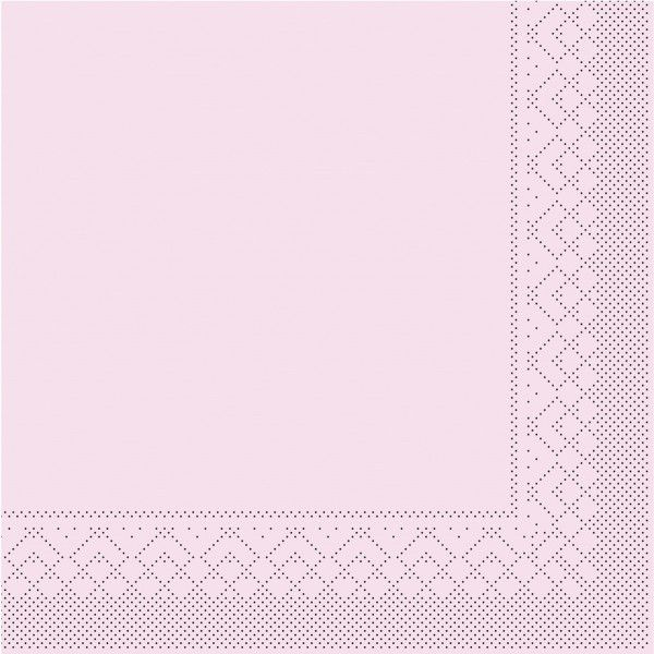 Tissue Serviette Rosa, 40 x 40 cm, 100 Stück - Mank