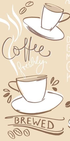 Airlaid Serviette Tasty Coffee in Braun 33 x 33 cm, 1/8- Falz, 50 Stück - Mank