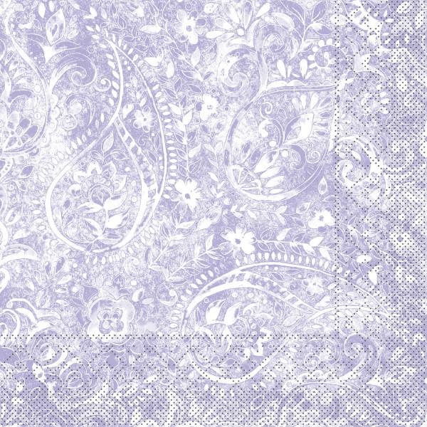 Tissue Serviette Felicia in Taupe, 40 x 40 cm, 100 Stück - Mank