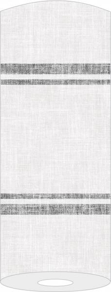 Airlaid Tischläufer Joe in Hellgrau-Schwarz, 40 cm x 24 m , 1 Stück - Mank