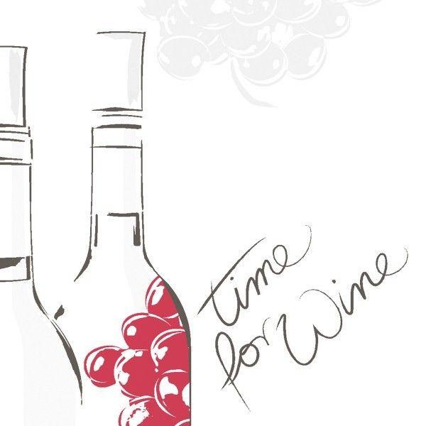 Airlaid Serviette Time for Wine, 33 x 33 cm, 50 Stück - Mank