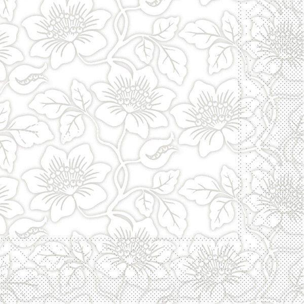 Tissue Serviette Hedda in Grau, 40 x 40 cm, 100 Stück - Mank