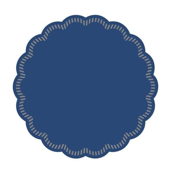 Tissue Deckchen in Blau, Ø 90 mm, 250 Stück - Mank