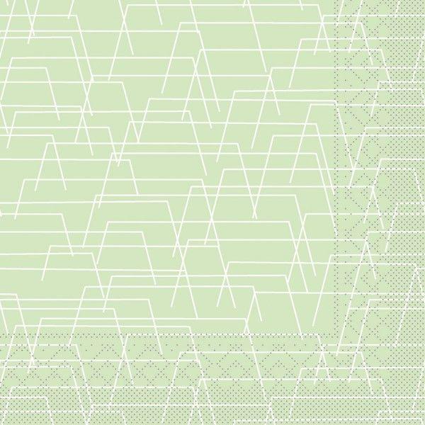 Tissue Serviette Tarik in Hellgrün, 33 x 33 cm, 100 Stück - Mank