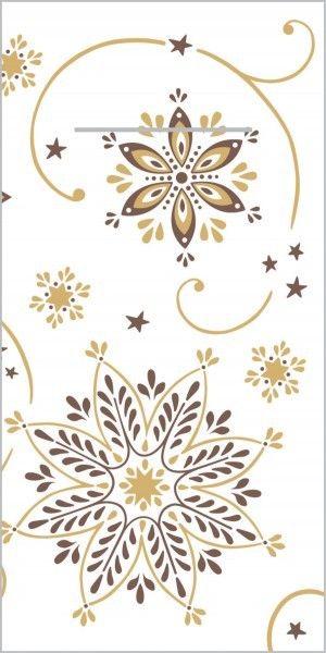 Airlaid Besteckservietten Cristal in Braun-Gold, 40 x 40 cm, 75 Stück - Mank