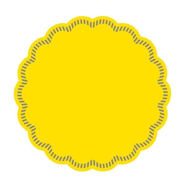 Tissue Deckchen in Gelb, Ø 90 mm, 250 Stück - Mank