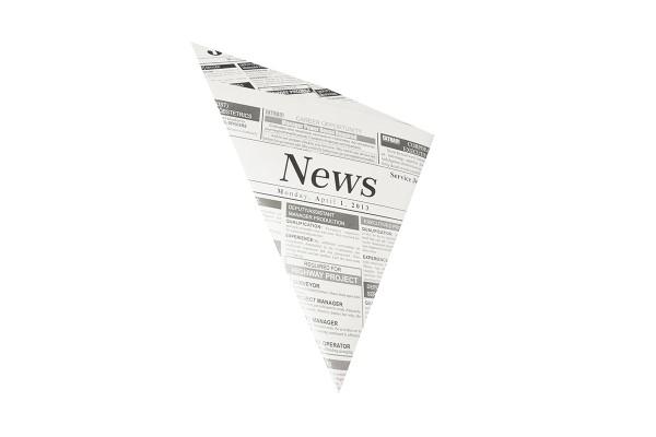 Spitztüten, Pergament-Ersatz 27 cm x 19 cm x 19 cm Newsprint Füllinhalt 125 g - Papstar