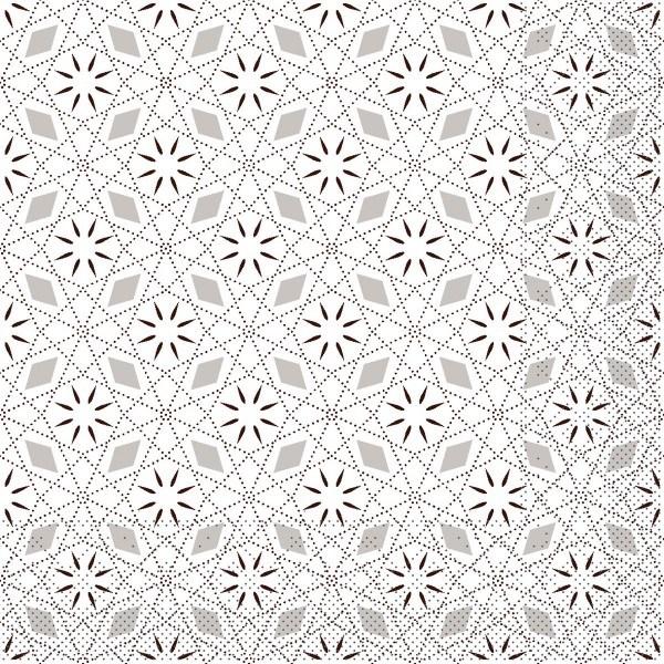 Tissue Serviette Mia in Braun, 33 x 33 cm, 100 Stück - Mank