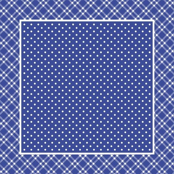 Airlaid Tischdecke Antonia in Blau, 80 x 80 cm, 50 Stück - Mank