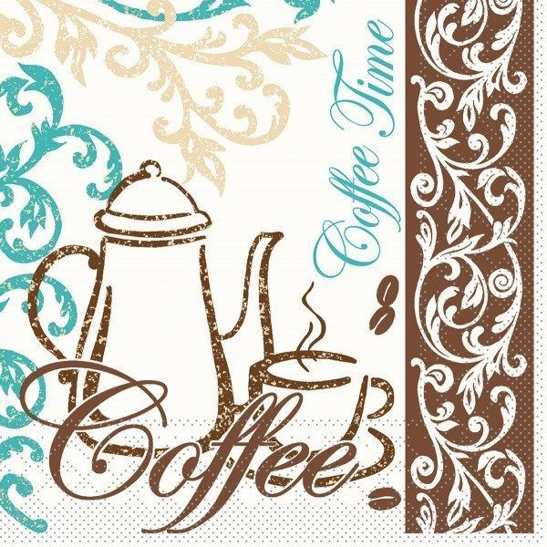 Tissue Serviette Coffee/Tea, 33 x 33 cm, 100 Stück - Mank