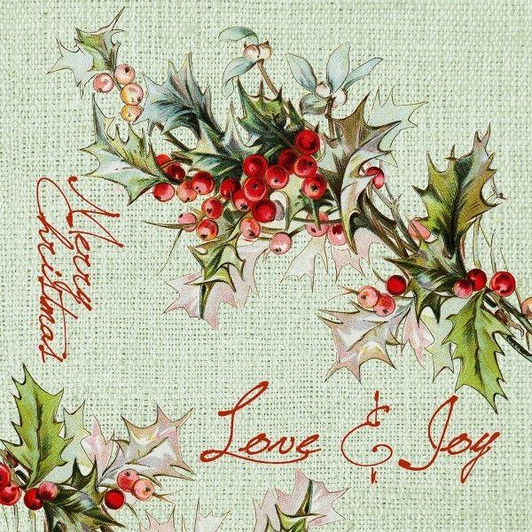Airlaid Serviette Love & Joy (ohne Besteck), 40x40 cm, 50 Stück - Mank