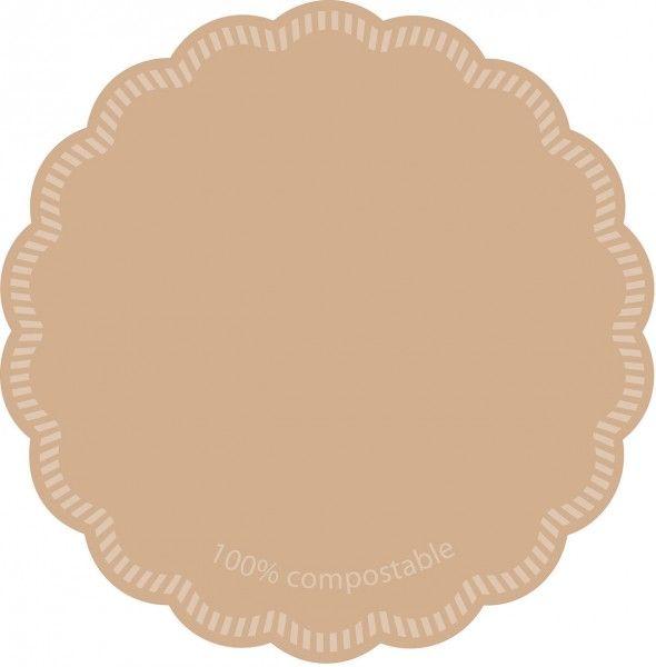 Tissue Deckchen Love Nature - 100% compostable, Ø 120mm, 250 Stück - Mank