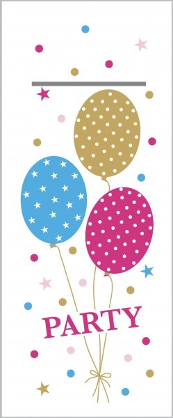 "Airlaid Besteckservietten Party Ballons in Pink-Gold ""Pub"", 40 x 33 cm, 75 Stück - Mank"