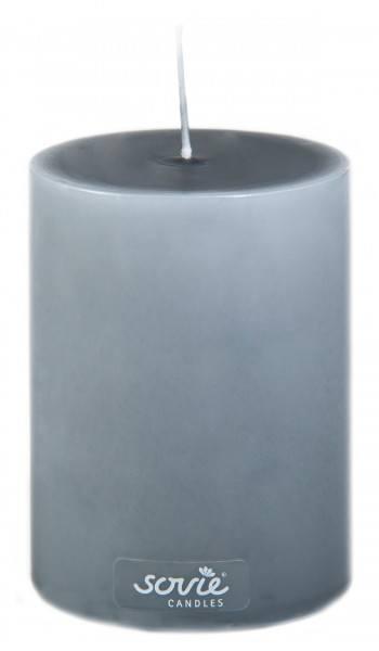 Stumpenkerze Grau, Ø70x100 mm