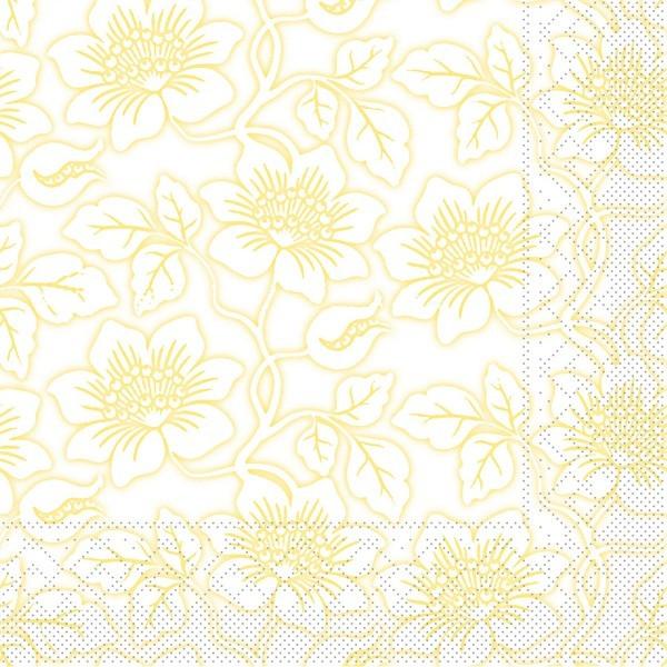 Tissue Serviette Hedda in Gelb, 33 x 33 cm, 100 Stück - Mank